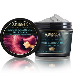 قناع الطين المغربي للشعر - Mud & Moroccan Oil Hair Mask