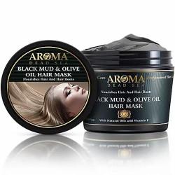 أسود الطين وزيت الزيتون المضادة للقشرة عميق إصلاح قناع الشعر - Black Mud & Olive Oil Anti Dandruff Deep Repair Hair Mask
