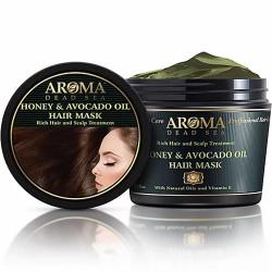 الكيراتين والعسل والأفوكادو النفط قناع الشعر التصالحية - Keratin & Honey & Avocado Oil Restorative Hair Mask